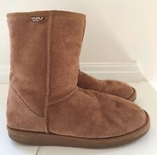 EMU Women's Boots Size 9 Brown Suede Genuine Wool Lined Short