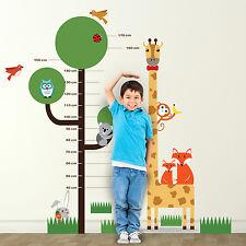 Children Kids Baby Zoo Boy Animals Nursery Stickers Girl Measurement Decoration
