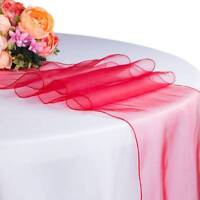 Organza Table Runner For Wedding Party Hotel Tulle Sheer Table Runners Decors
