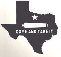 Texas COME AND TAKE IT cannon Star GUNS TX Vinyl Decal Car Truck Sticker Cup