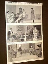 Teatro Manzoni di Milano nel 1909 La buona figliola di Sabatino Lopez
