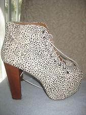 jeffrey campbell  shoes lita FUR platforms  size 9.5 m