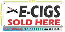 2x5 e CIGS SOLD HERE Full Color Banner Sign for Smoke Shop ElectronicCigarettes