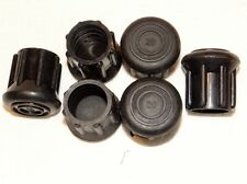 """(6) NEW 1"""" HEAVY RUBBER CANE TIPS FOR WALKING STICKS, CRUTCHES, & WALKERS"""