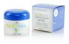Acrygel by Star Nail UV Gel ACRY GEL strong gel nails  Clear/White/  Pink 1 oz