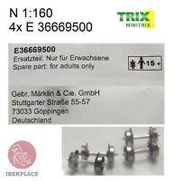 Minitrix Trix E-36669500 N gauge 1:160 scale spare parts 4x wheels cars Set