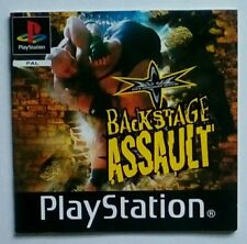 *INSTRUCTIONS ONLY* WCW Backstage Assault Manual Playstation One 1 PSOne PS1 PSX