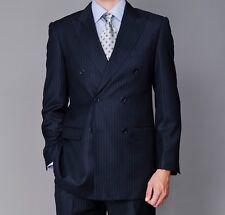 Men's Formal Double Breast Jacket Wedding Dinner Blazer Business Suit Coat Pants