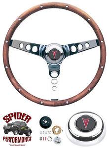 "1964-1966 Pontiac GTO steering wheel 13 1/2"" CLASSIC WALNUT"