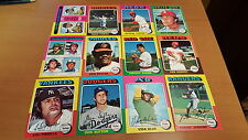 1975 Topps Mini Baseball Cards 357 Different W/Stars VG-EX-EX+*1608 over 50% set