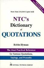 Ntc's Dictionary of Quotations (National Textbook Language Dictionaries)