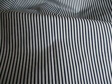 FABRIC CLEARANCE! 4.2m navy/white stripe fabric. Fine polycotton. Quilt quality.