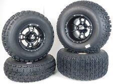 "New 4 Set YAMAHA YFZ 450 BLACK ITP SS112 Rims & MASSFX Tires Wheels 10"" kit"