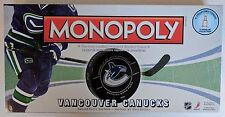 Vancouver Canucks Monopoly Board Game NHL Collectible Tokens Zamboni Stanley Cup