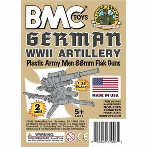 BMC Classic WW2 German 88mm Artillery - 2pc Tan Plastic Army Men Accessories