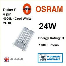 2 x Dulux F 24 W 840 2G10 4 broches Ralux Twin RADIUM Watt Ampoule De Lampe RX-TW 1700 lm