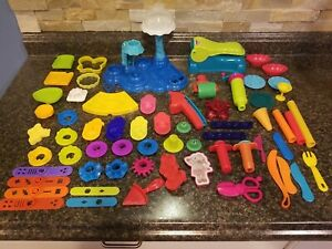 Hasbro Play-Doh Lot 60+ Playsets/Cookie Cutters/Tools/Fun Factory+