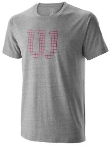 Wilson - WRA773602 - Men's Stencil Tech Tennis T-Shirt - Heather Gray