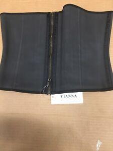ILanni Body Shaper Waist Shapewear Black Latex Girdle size 6XL