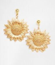 Designer Inspired Van Gogh Style Golden Sunflower Earrings