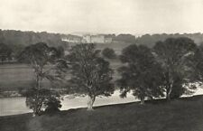 SCOTLAND. Floors Castle from the South bank of the Tweed 1901 old print