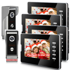 "7"" Video Door Phone System Video Intercom +4 Monitors + 2 Cameras Night Version"