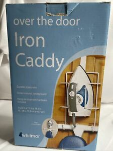 Over The Door Iron Caddy Ironing Board Holder Hanger Wall Mount Small Apt (BR)