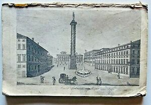 Lotto Raccolta 36 Stampe Antiche Gandini Roma 1830 circa Colosseo Old prints