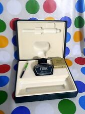 CROSS VINTAGE BOX WITH FULL INK BOTTLE & REFILLS -SERIOUS OFFERS ARE WELCOME !