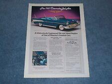 1957 Chevy Bel Air Convertible Vintage Die-cast Ad by Danbury Mint
