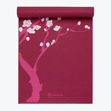 Gaiam Pink Cherry Blossom Tree Print Yoga Mat 3mm Cushioning Lightweight Durable