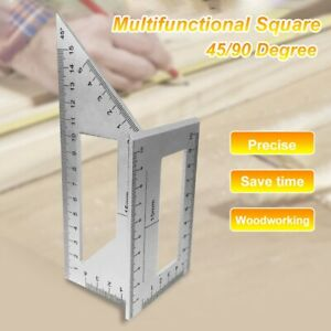 Durable Square 45/90 Degree Gauge Angle Ruler Measuring Woodworking Tool