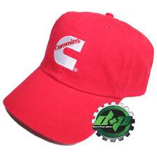 Dodge Cummins baseball hat cap basic red soft center logo hat truck diesel gear