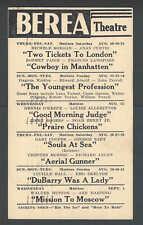 1943 Berea Theatre Souls At Sea W/Gary Cooper & george Raft Berea Oh Etc