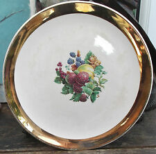 royal winton grimwades plate gold band edge autumn fruits 1964 from devon farm
