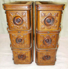 6 Ornate Antique Singer Treadle Sewing Machine Oak Drawers with Frames