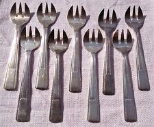 9 fourchettes à huîtres en métal argenté style art déco Félix Frères