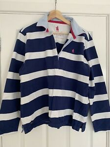 Thomas Cook Womens Rugby Shirt Blue stripe Size 16