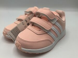 adidas VS Switch 2 CMF Sneakers Infant Girls Size 8K Peach Grey New in Box