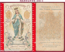 1511 SANTINO HOLY CARD IMMACOLATA CONCEZIONE MEDAGLIA MIRACOLOSA MARINI N. 4 A