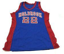 Vintage Sand Knit Holbrook Basketball Jersey Taille 38 Bleu Tank Haut USA 80s