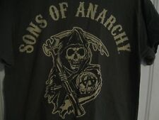 Official Sons of Anarchy T-shirt Reaper Logo Road Gear Prospect Size Medium Gray
