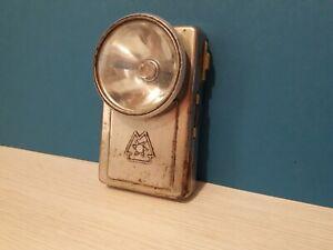 USSR Vintage Soviet Flashlight railroad military Pocket Lantern Old metal