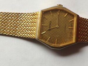 """a gents gold tone cased """"santima """" watch spares/ repairs"""