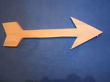 "wooden arrow wall art, wooden arrow, rustic wooden arrow, 12"" unfinished oak"