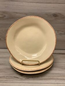 "PIER 1 IMPORTS Elemental Earthware 8.25"" Salad Dessert Plates Honey Set of 3"