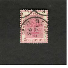 1893 South Africa  SC #8 CDS Zes pence used stamp
