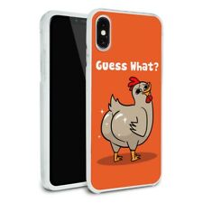 Guess What Chicken Butt Funny Slim Hybrid Case Fit iPhone 8, 8 Plus, X