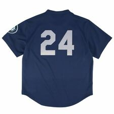 MLB Mitchell & Ness Authentic Throwback Batting Practice Jersey Collection Men Seattle Mariners Ken Griffey Jr Navy Blue 48