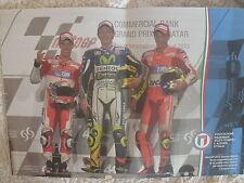 MOTOCICLISMO MOTO GP VALENTINO ROSSI  DOVIZIOSO IANNONE POSTER  MAGLIA AZZURRA